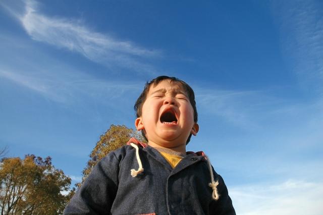 大泣きする子供(2)