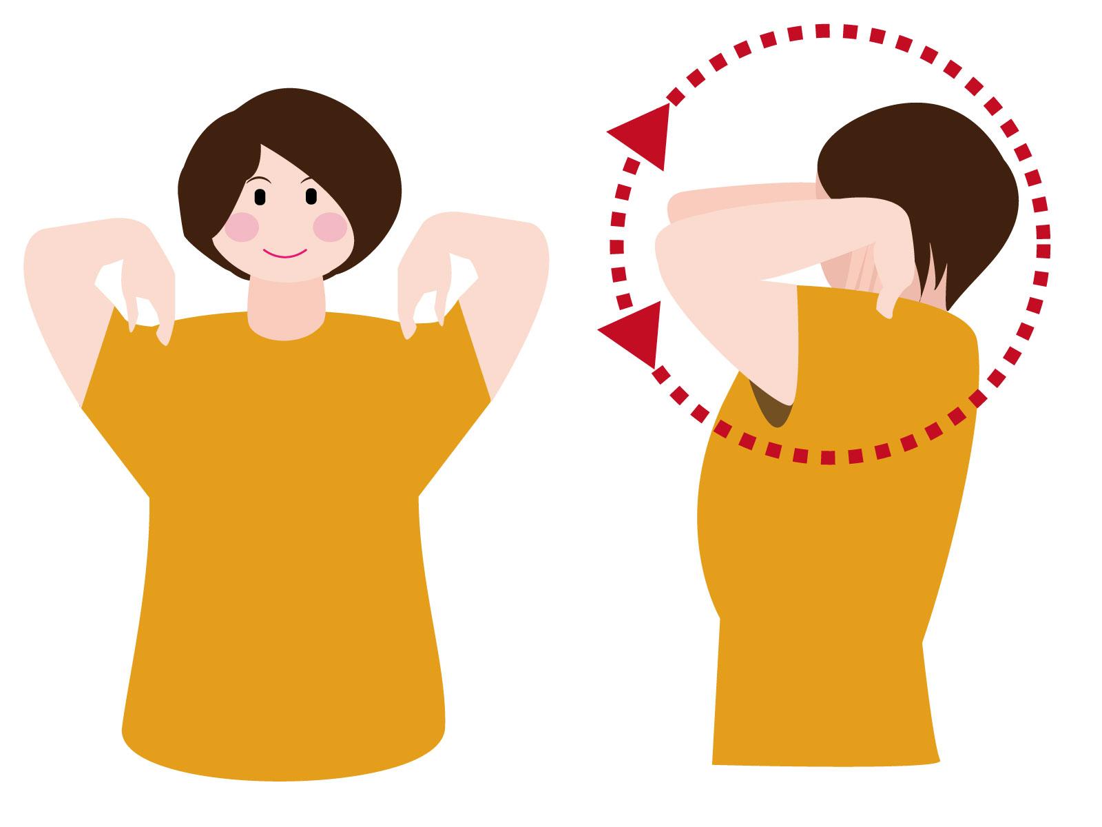 肩回し運動 女性