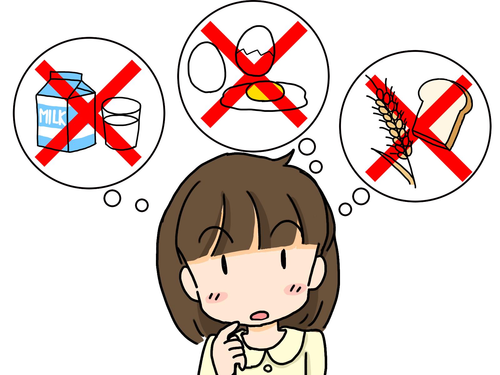 食物アレルギーで悩む女性