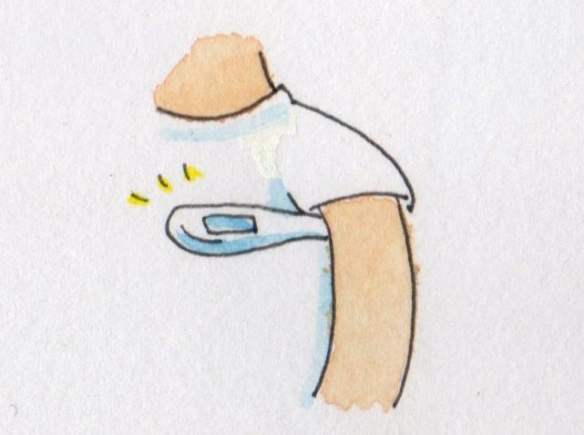 体温測定 イラスト